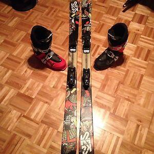 """K2 Ski Press """"Jib Rocker"""" 169cm + Salomon Boots"""