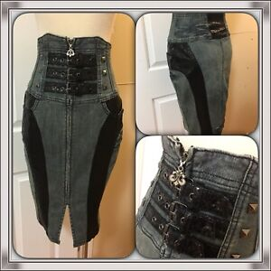 DEREON Sexy Jeans Pencil Skirt (XS or Size 24/25)