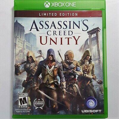 Xbox Uno Assassins Creed Unity Edición Limitada Microsoft 2014 Nominal M17+ segunda mano  Embacar hacia Spain