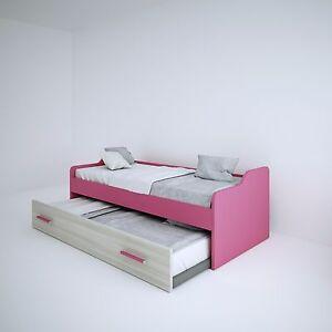 Doppio letto ponte letto estraibile cameretta reti incluse - Letto doppio estraibile ...