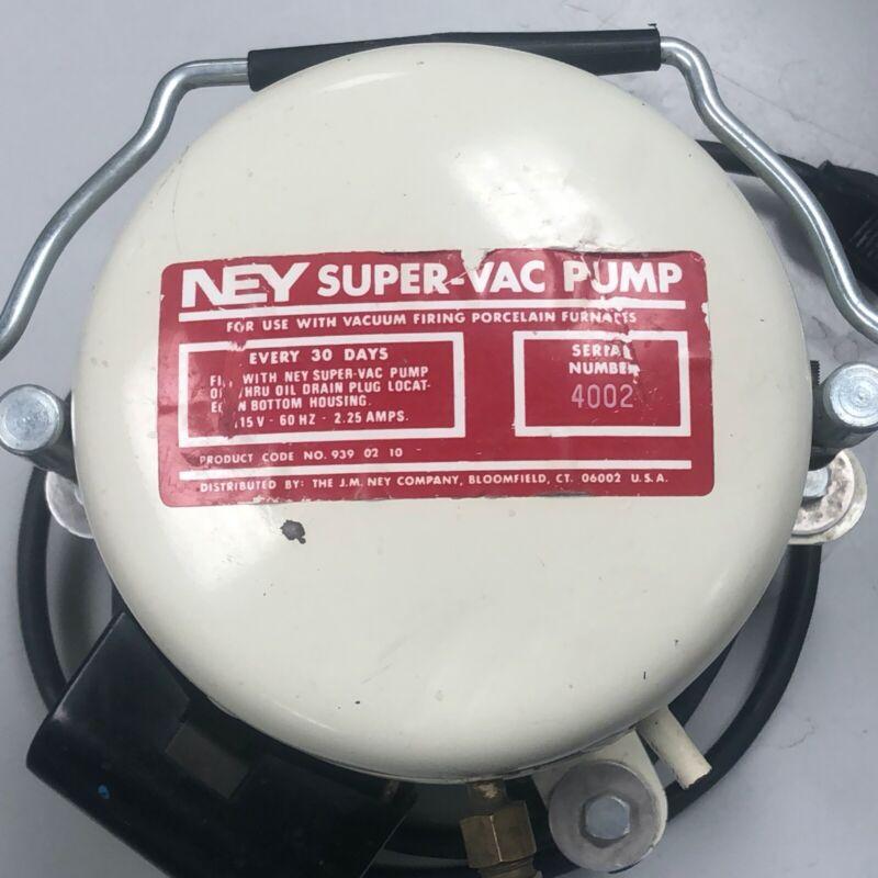 Used Dental Lab Equipment Vacuum Pump NEY Super-Vac for porcelain oven