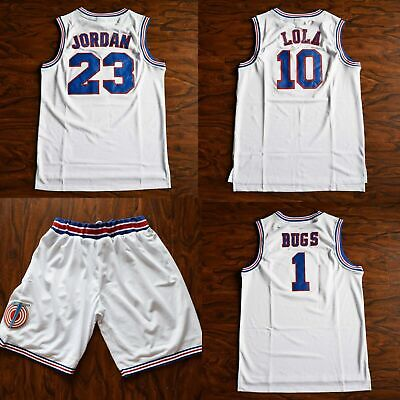 Space Jam #23 Jordan Tune Squad Bugs Bunny #1 Lola Bunny #10 Basketball Jersey