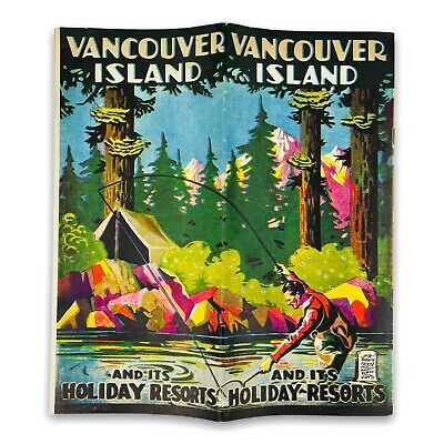 1940s Holiday Resorts of Vancouver Island British Columbia Canada Old Photos