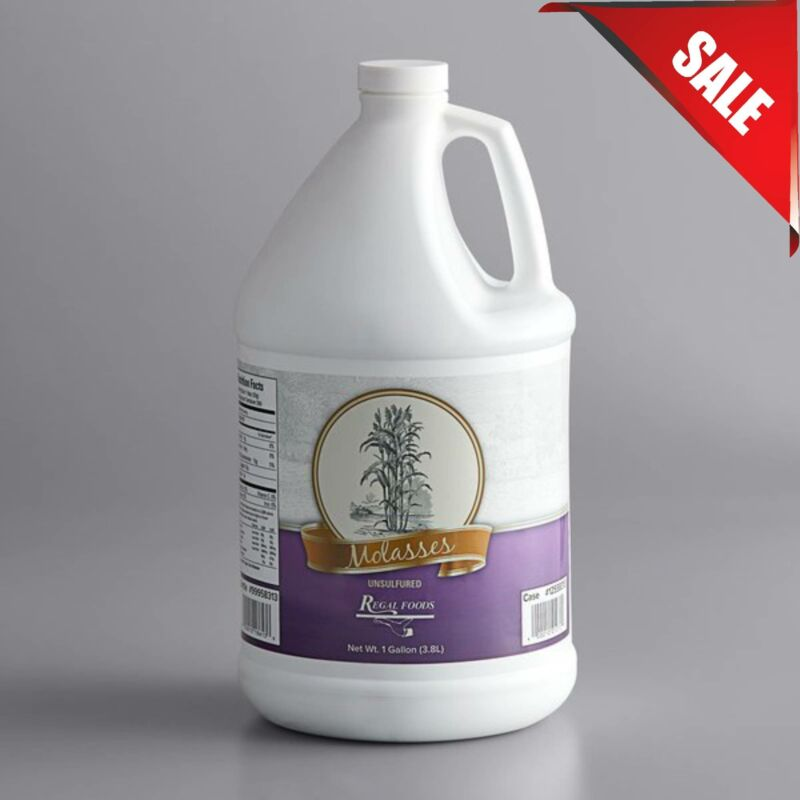 (4/Case) 1 Gallon Bulk Container Sulfur-Free Molasses Commercial Restaurant