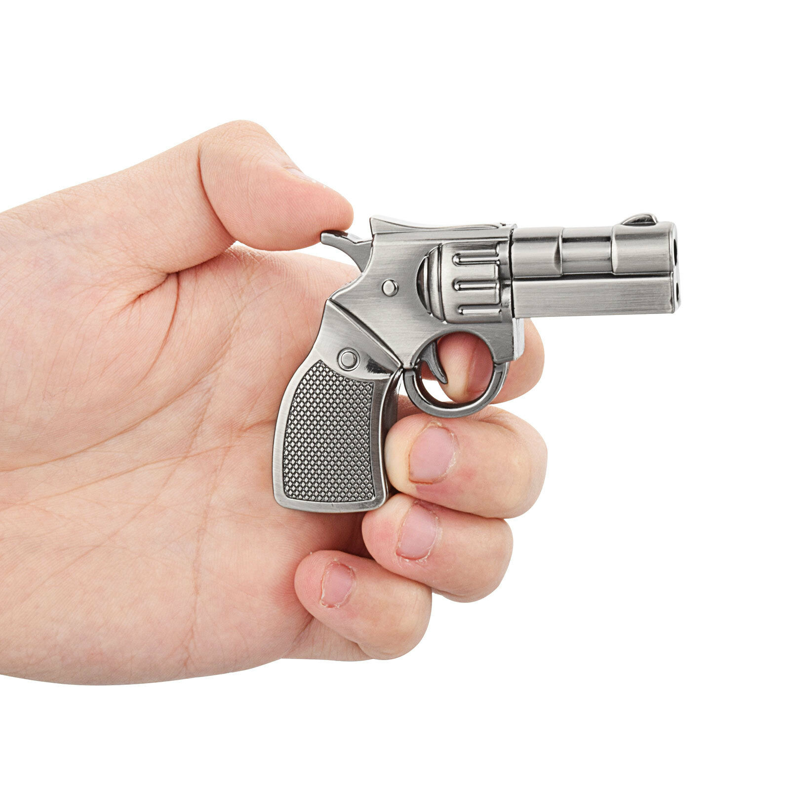 Silver Metal Gun Model 32GB USB 2.0 Flash Drives Memory Stic