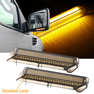 Smoke LED Under Side Mirror Turn Signal Lights Lens For Ford F-150 2004-2014 - Mirrors Smoke Led Lens