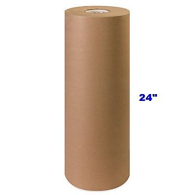 "24"" x 900' Brown Kraft Paper Roll 40# lb Shipping Wrapping Packaging Cushioning"