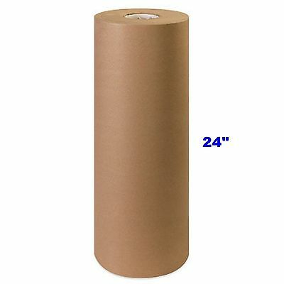 24 X 900 Brown Kraft Paper Roll 40 Lb Shipping Wrapping Packaging Cushioning