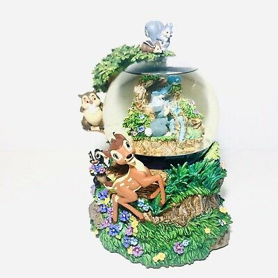 RARE Disney BAMBI - Little April Showers - Large Musical Snow Globe With Box HTF