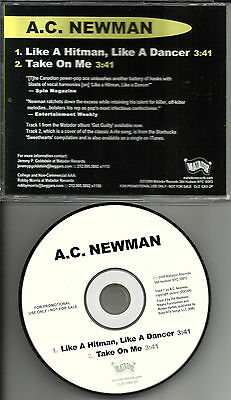 A.C. NEWMAN Like a Hitman w/ Rare A HA Take on Me Remake TRK PROMO CD single AC