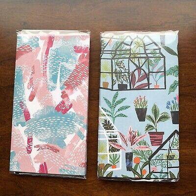 Jot Flower Printed Sticky Notes Memo Pad Trifold Booklet Set Lot Of 2