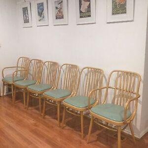 Ligna Drevounia Dining Chairs Czechoslovakia Bentwood x 6 Geelong West Geelong City Preview