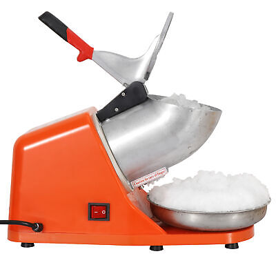 Tabletop Electric Ice Crusher Shaver Shaved Icee Snow Cone Maker At Home 143lbs