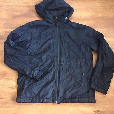 Boys Gap Navy Rain Coat Mac Jacket Zip Away Hood Size Age 13 XL