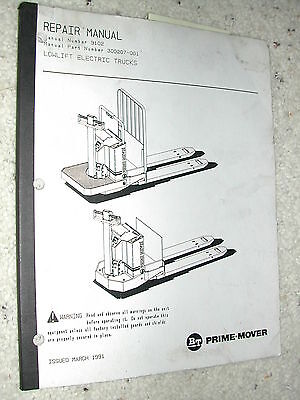 Bt Prime Mover Lowlift Electric Truck Service Repair Manual Forklift Pallet Jack