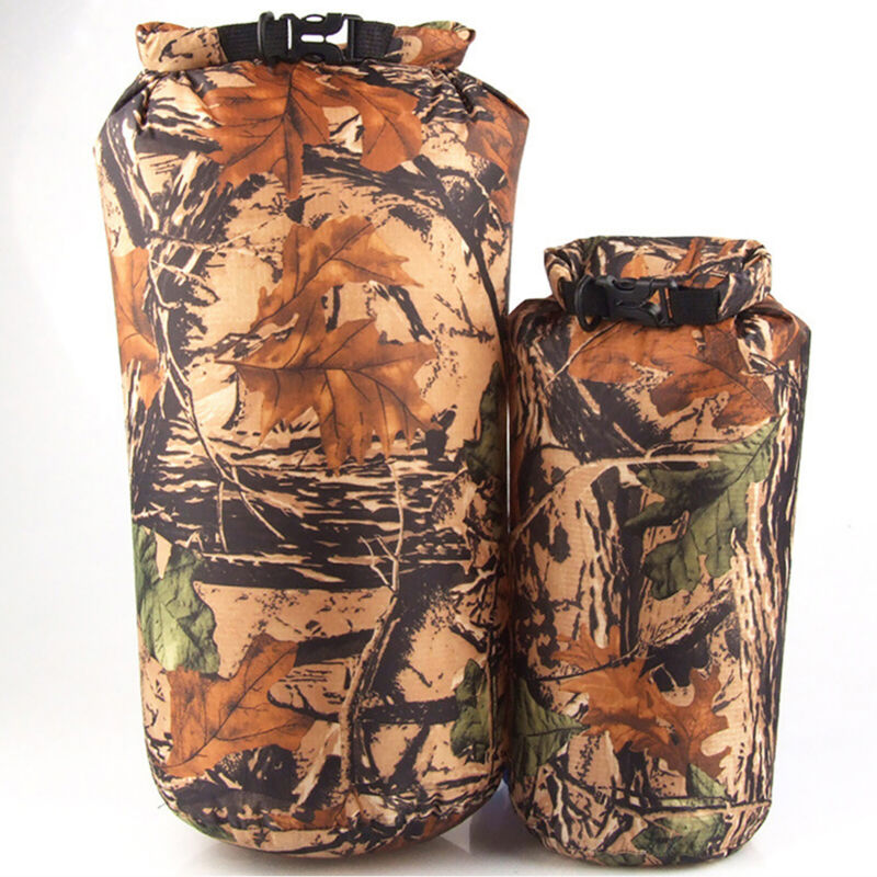 8L Camo Waterproof Dry Bag Storage Sack Pouch Kayak Camping Outdoor Beach Hiking