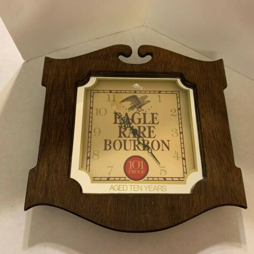 Vintage Eagle Rare Bourbon - Wall Clock - Wood - Man Cave or Bar