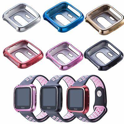 Für Fitbit Versa Watch Armband TPU Tasche Schutz Hülle Frame Shell Case Cover Armband Case Cover