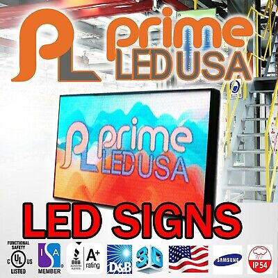 Led Sign P10 Smd Full Color Indooroutdoor Wifi Led 6.25 X 37.75