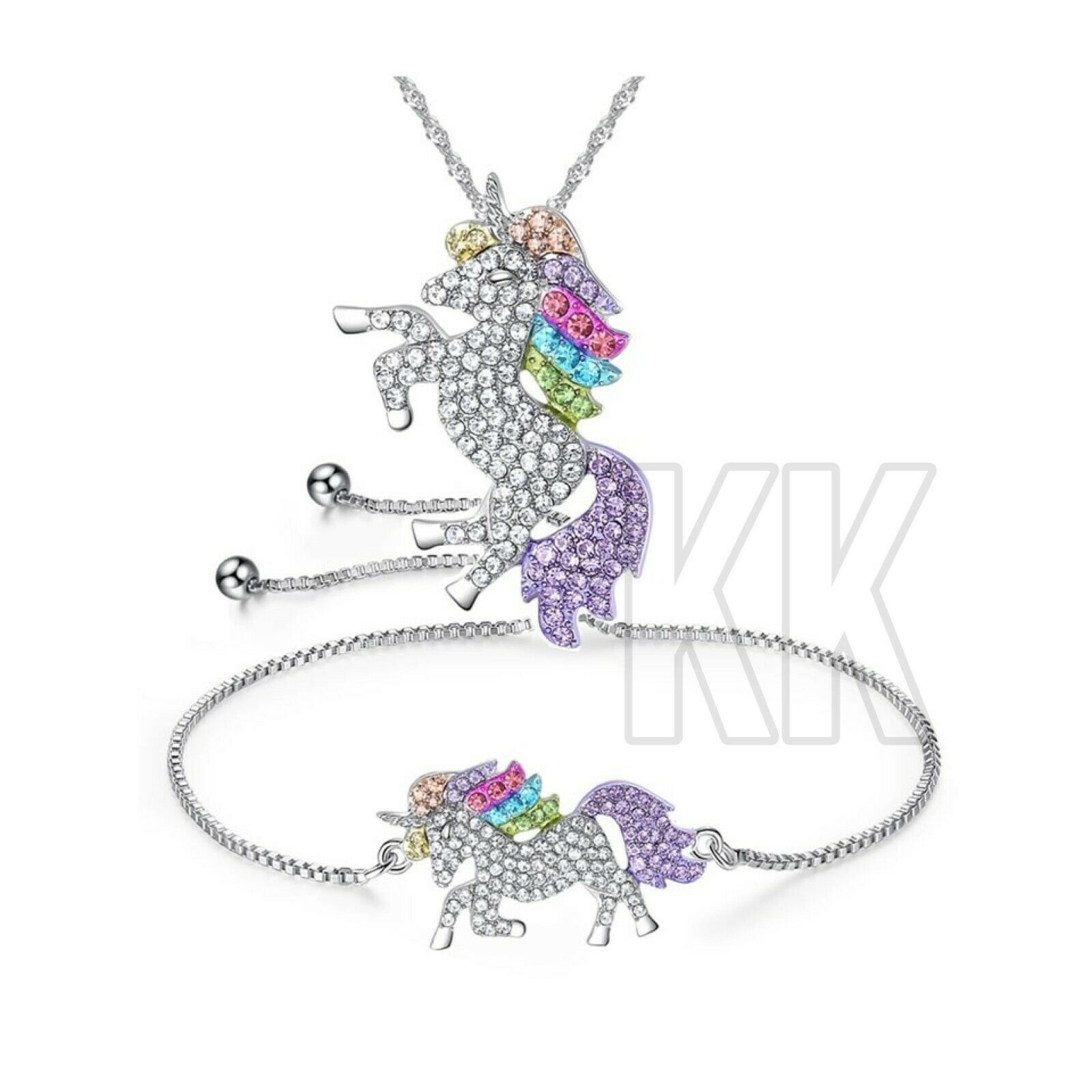 Jewellery - Unicorn Pendant Necklace Chain Flying Horse Kids Girls Jewellery Party Gifts NEW