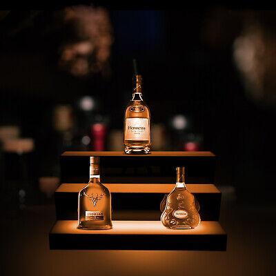 24 3 Step Tier Led Glowing Light Up Back Bar Liquor Bottle Display Shelf Dcor