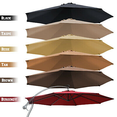 Replacement Hanging Canopy 10ft 8rib Solar Cantilever Patio Umbrella Top Cover ()