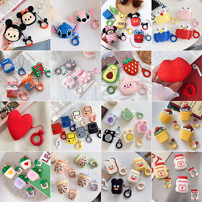 Cute Cartoon Colorful Silicone Rubber Case Cover Shell +Ring For Apple (Cartoon Color)