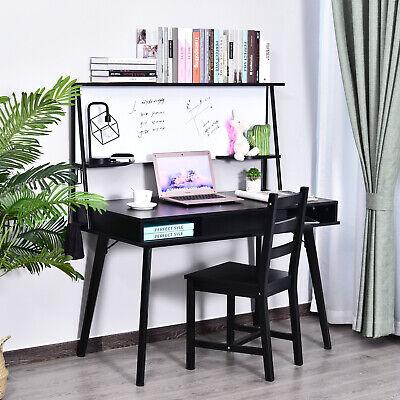 Heavy Duty Office Desk Computer Table Ample Storage Desktop W/ Whiteboard,