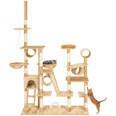 "Pet Play Palace 96"" Cat Tree Scratcher Condo Furniture, Beige"