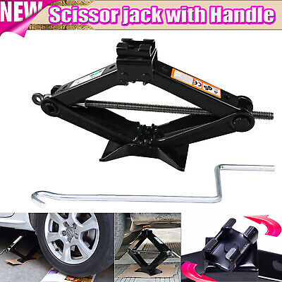Emergency Wind Up Scissor Jack Lift for Car Van Garage W/ Speed Handle 2 Tonne](Scissor Handles)