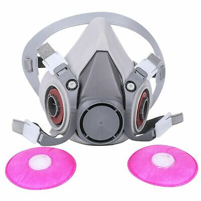 6200 Half Facepiece Respirator Spray Paint W 2091 P1oo Filter 1 Size Fits All