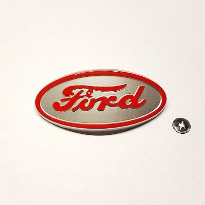 Ford 8n Tractor Front Hood Emblem With Mounting Nut Free Shipping