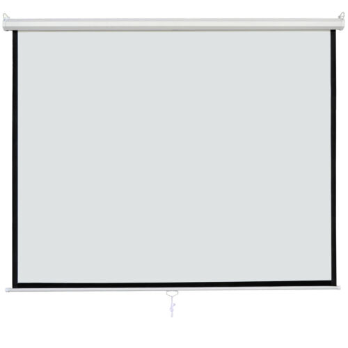 120″ Diagonal Dimension 1:1 Pull Down Projection Screen Matte HD Movie Theater Consumer Electronics