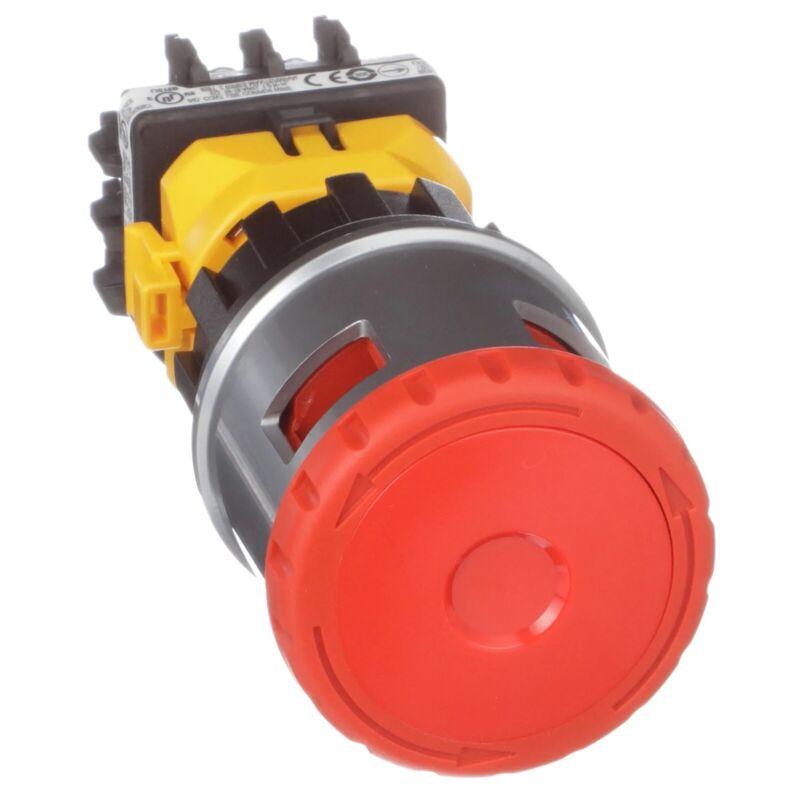 XN4E-BL411MR, IDEC, Emergency-Stop ?30mm Push Lock-Turn Reset Red Mushroom