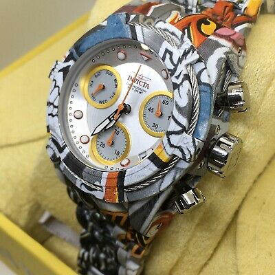 Invicta Bolt Zeus Graffiti Hydroplated Women 42mm Chronograph Watch 30221 #1S