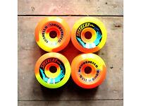 SPEEDLAB BOMBSHELLS 57mm 99a GREEN Skateboard Wheels Set