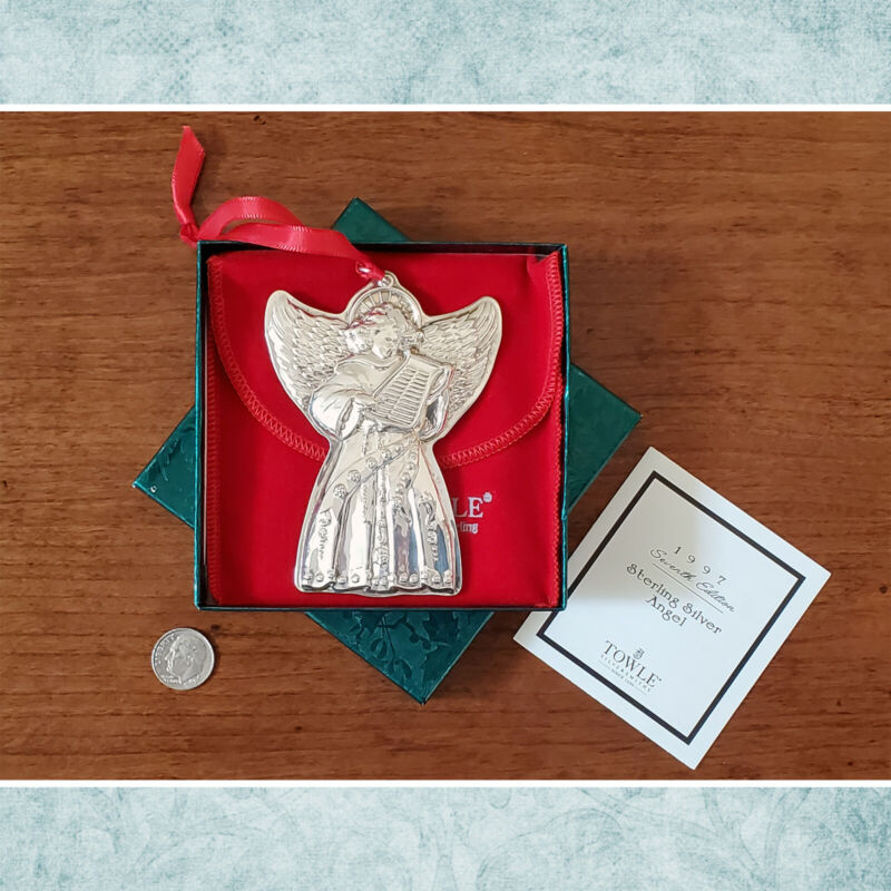1997 Towle Sterling Silver Angel Collectable Ornament