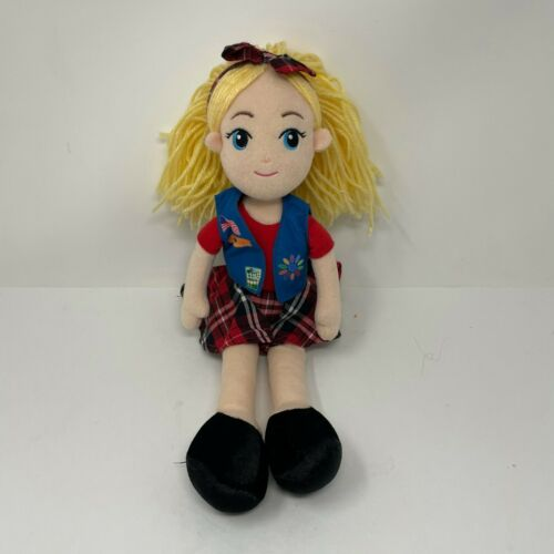 Girl Scouts Daisy Scout with Vest Red Plaid Plush Doll Toy