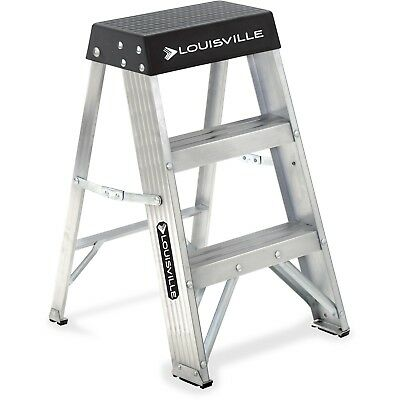 Louisville 2-foot Step Ladder Stool Aluminum Small Compact Heavy Duty Bracing