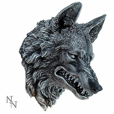 Wolf Wall Plaque 28cm High Lycanthrope Werewolf Head Nemesis Now