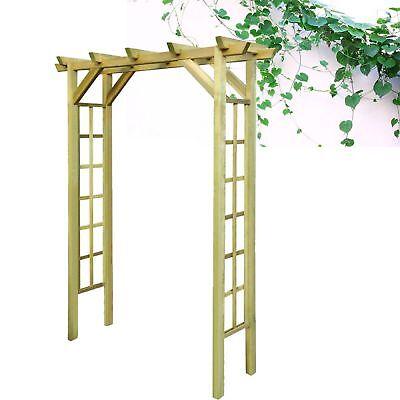Impregnated Wooden Arbour Rose Climbing Plant Arch Pergola Garden Outdoor Frame