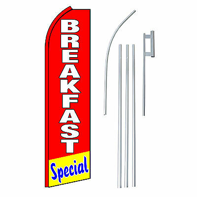 Breakfast Special 15 Complete Swooper Flag Starter Kit Bow Feather