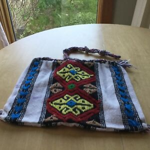 Greek wool/cotton knapsack 46cm x 35cm good condition