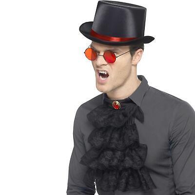 Erwachsene Gothic Steampunk Viktorianisch Vampir Satz Zylinder Krawatte Brillen