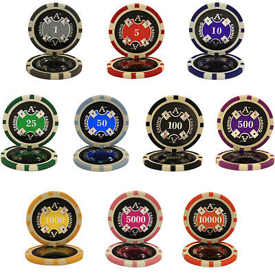 500pcs 14G ACE CASINO CLAY POKER CHIPS BULK - Choose Denominations