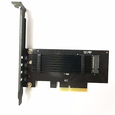 M.2 NVME SSD PCI Express 3.0 x4 PCIE Adapter Card + Heat Sink with Thermal Pads