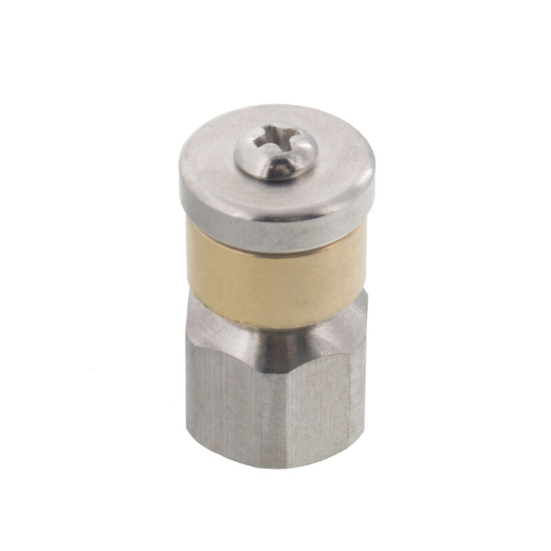 """Erie Tools Rotating 1/4"""" Sewer Jetter Nozzle for Drain Cleaning 5.5 Orifice"""