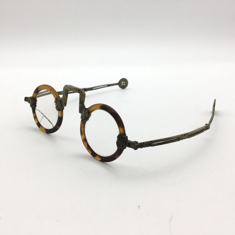 Rare Antique Chinese Faux Tortoise Shell Spectacles Antique Eyeglasses 19th C