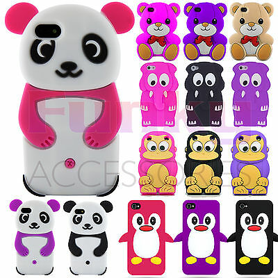 Funky Quality Humorous Soft Animal 3D Silicone Skin Cover Case Cartoon Cute