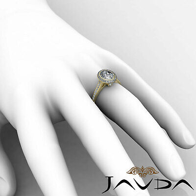 Cathedral Halo Pave Bezel Setting Oval Diamond Engagement Ring GIA H VS2 1.8 Ct 10